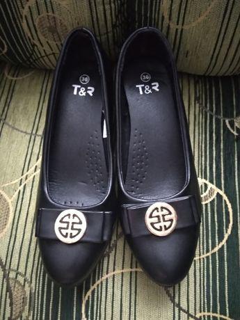 Nowe Pantofle damskie skórzane roz 36