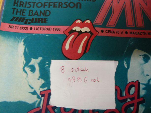 Czasopisma Magazyn Muzyczny 1986r. 8 sztuk