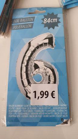 Balon foliowy 84cm cyfra liczba 6