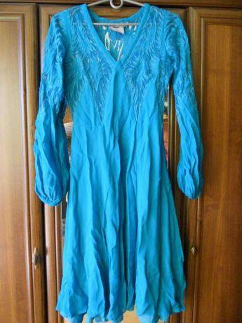 Sukienka ASOS niebieska 36 S