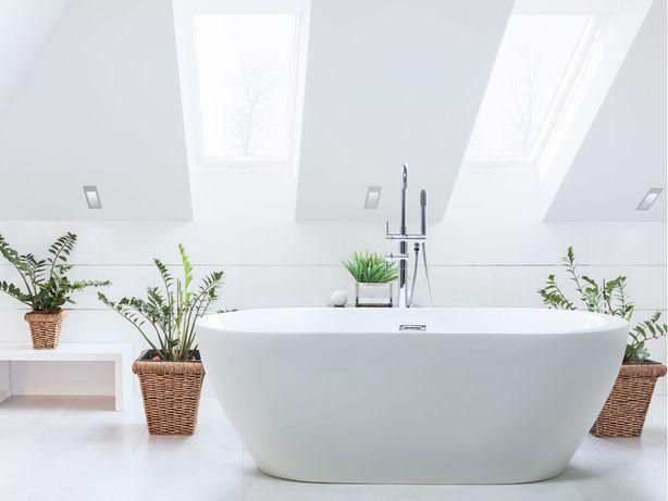 Banheira autónoma 170 cm em acrílico branco NEVIS - Beliani