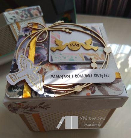 Exploding box, Pamiątka I Komunii Świętej, ręcznie robione, handmade