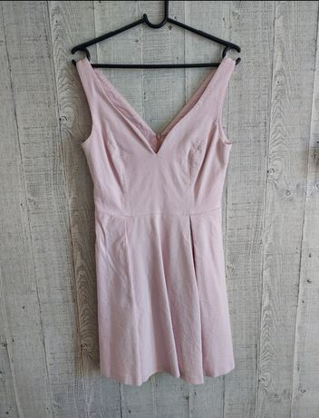 Sukienka różowa Mohito S wesele chrzciny ślub komunia