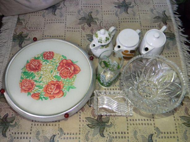 Тортница СРСР + набор посуды