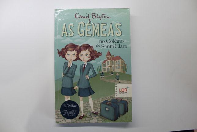 Livro- As gémeas no colégio de Santa Clara