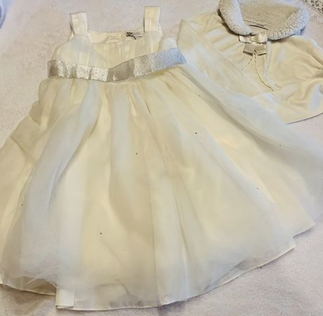 Пышное   Нарядное платьеи болеро gеorge на 4-6лет
