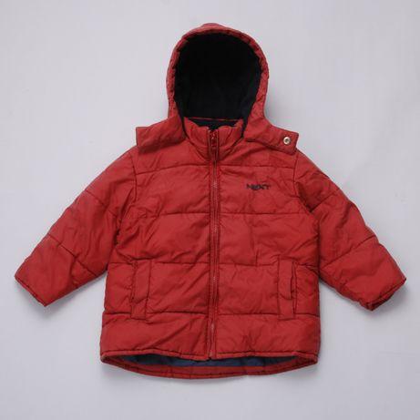 Зимняя куртка теплая на флисе для мальчика Next 92