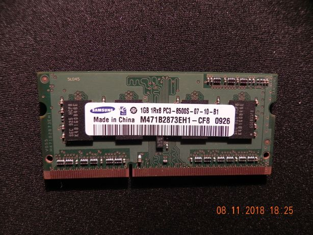 Оперативная память Samsung ddr3 1gb для ноутбука