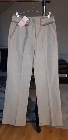 Spodnie szerokie lniane Orsay, rozm. 36