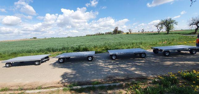 Przyczepka platforma sadownicza wózek ogrodowy transportowy