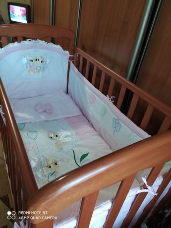 Кроватка детская ТМ ВЕРЕС СОНЯ Бук цвет Ольха