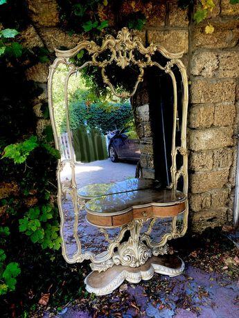 Спальня антикварная, карельская береза, барокко, Италия