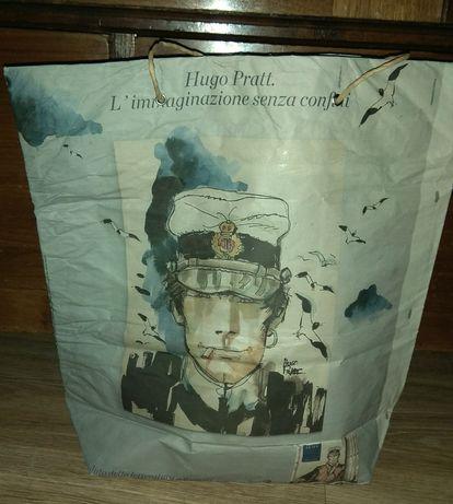 Włoska torebka z gazet unikat vintage