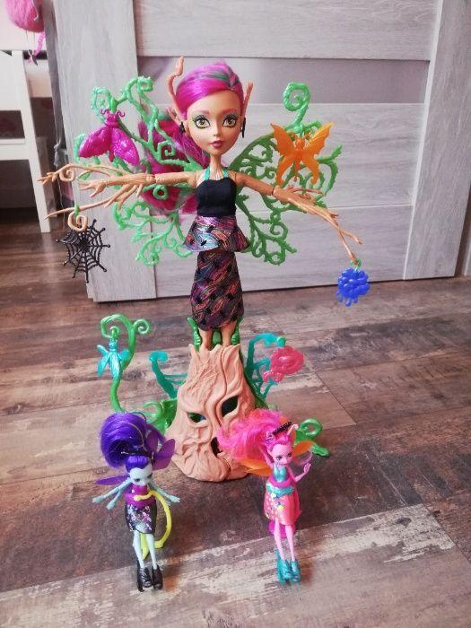 Monster High FCV59 Leśna Nimfa DRZEWO + lalki skrzydlate upiorki Budzyń - image 1