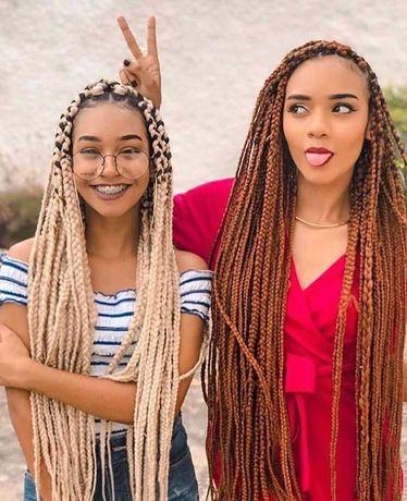 Tranças africanas vários estilos