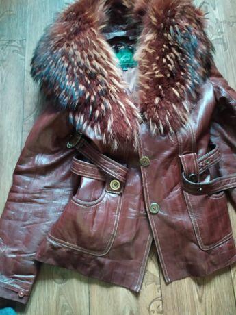 Куртка кожаная можно носить зимой