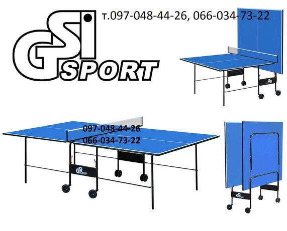 Настільний теніс. Складной теннисный стол на колесах Теннис настольный