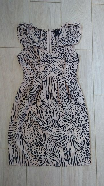 Sukienka lato letnia panterka jak nowa H&M