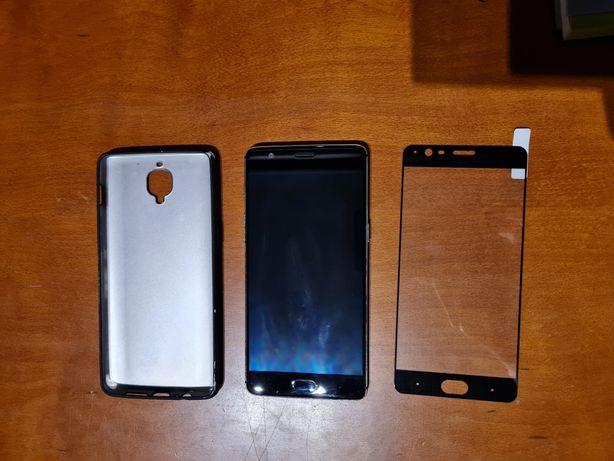 Oneplus 3T com vidro temperado e capa