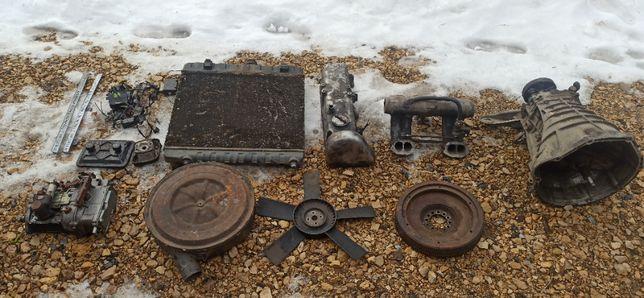 Zbiór części mercedes w123 beczka chłodnica skrzynia pompa obudowa