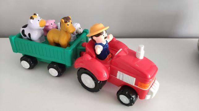 Zabawka rolnik zwierzęta, grająca, stan idealny
