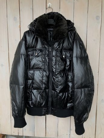 Bata and more down пуховик курточка с натуральным мехом