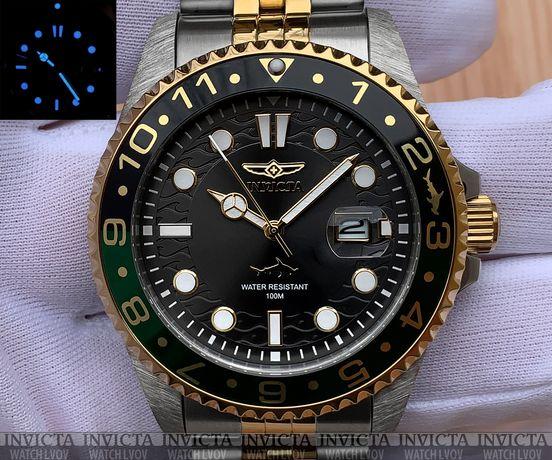 Мужские Часы Invicta 30625 Pro Diver 43 мм. Master Oceans Gold Green