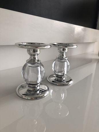 Swiecznik srebrny szklany zara home home&you