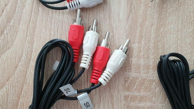 Przewód kabel 2 x rca 2xRCA-2xRCA męskie męski
