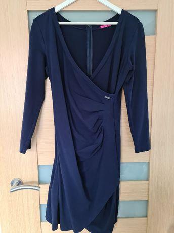 sukienka ciążowa granatowa Happymum XL, do karmienia