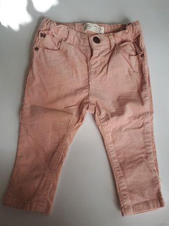 Вельветовые штаны для девочки, Zara Baby Girl, 6-9 мес. рост 74 см.