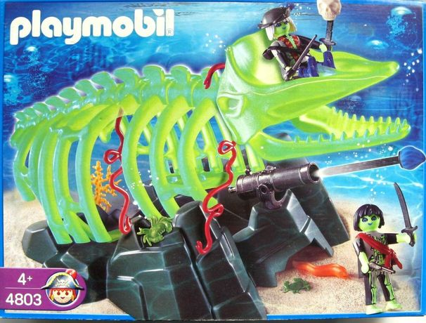 Playmobil 4803, 5 piraci duchy, duży świecący w nocy szkielet