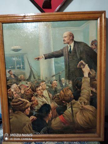 «В. И. Ленин провозглашает советскую власть»