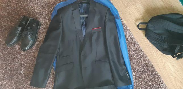 Nowy garnitur 182/96 +spodnie + buty r40