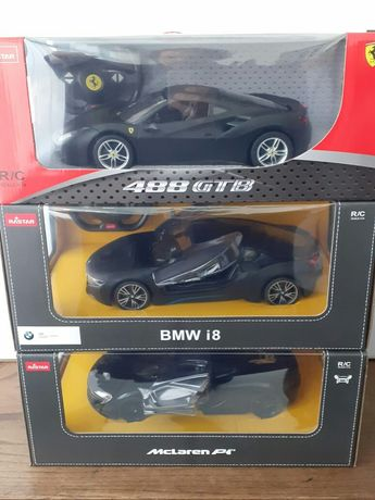 Miniaturas 1/14 Rastar. BMW i8, McLaren P1, Ferrari 488 GTB. Novas R/C