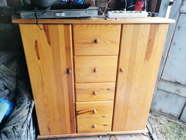 Dębowa komoda wraz z szafką