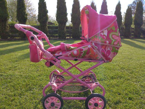 Wózek dziewczęcy dla lalek