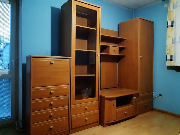 Meble pokojowe, Meblościanka, biurko, szafa, szafki