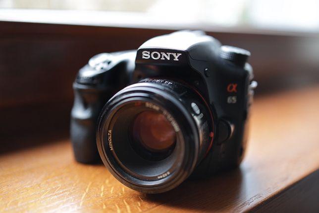Sony Alpha 65 + dwa obiektywy