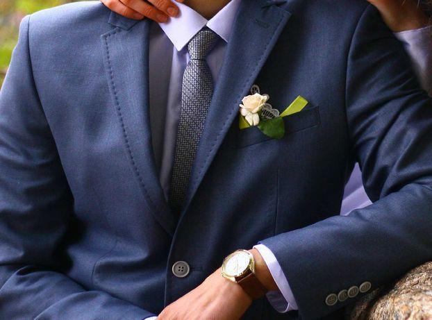 Мужской костюм свадебный смокинг 50/182 брюки пиджак