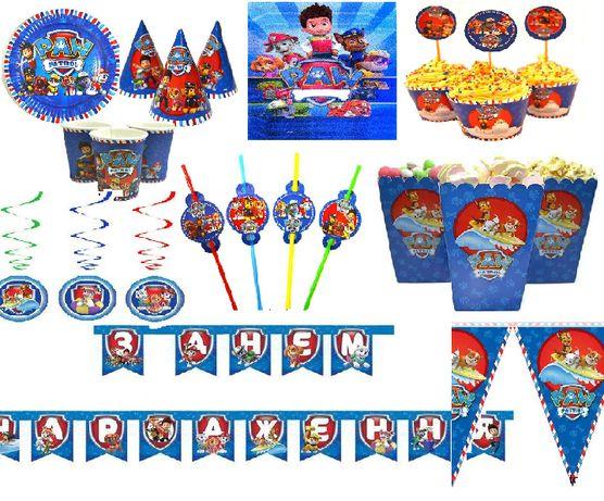"""Декор на день рождения """"Щенячий патруль""""(топперы для капкейков)"""