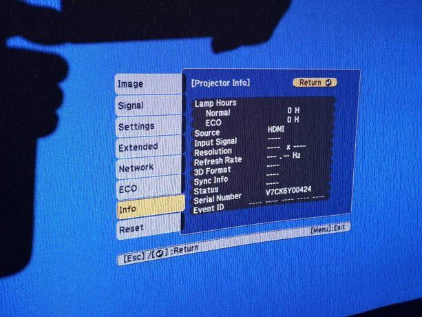 Projektor EPSON EH-TW570 oraz Ekran na trójnogu - nie używane.