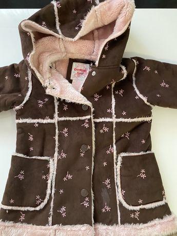 Kożuszek zimowy dla dziewczynki roxm.110 cm