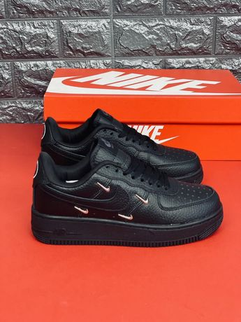 Кожаные кроссовки Nike Force 1 Все размеры 35-46 Найк Форс Аф1 Кожа!