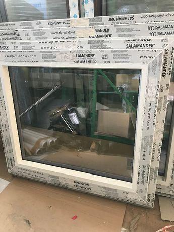 Okno PCV Salamander bE82MD 950x840 antracyt/biel