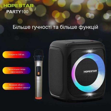 Портативная колонка Bluetooth хопстар hopestar party 100 LED оriginal