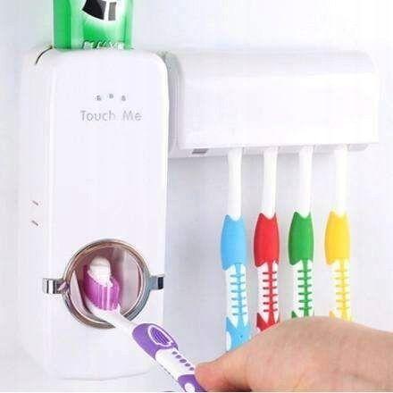 Dozownik do pasty do zębów pojemnik z uchwytem na szczoteczki