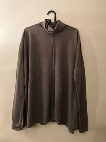 Golf beżowy sweter ZARA M