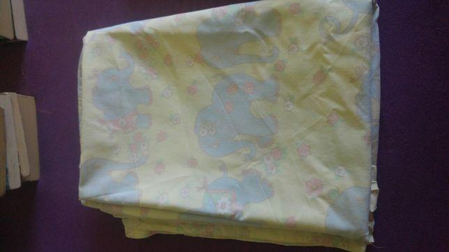 Poszwa bawełna 97x136 cm w słonie lub jako materiał na maseczki