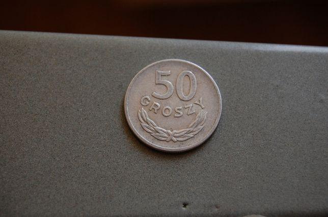 Moneta 50 groszy z 1949 roku.